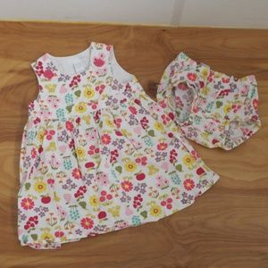 ❤H & M DRESS AND MATCHING DIAPER COVER, 12-18 mo